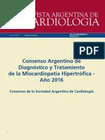 Consenso Argentino de Diagnostico y Tratamiento de La Miocardiopatia Hipertrofica 2016 1