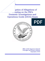 DIOG Cheating Exam Investigation