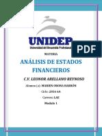 APORTACION ANALISIS DE ESTADOS FINANCIEROS