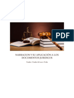 Narracion y Su Aplicación a Los Documentos Juridicos