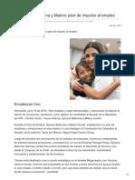 20/06/2018 Establecen Sylvana y Maloro plan de impulso al empleo