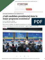 ¿Cuál Candidato Presidencial Tiene La Mejor Propuesta Económica_ _ ELESPECTADOR.com