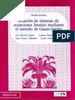 Solucion de Sistemas de Ecuaciones Lineales Mediante El Metodo de Gauss-jordan