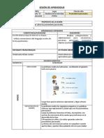 Modelo Sesion de Aprendizaje-pronombres Personales