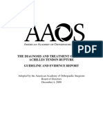 Management of Acute Achilles Tendon Rupture