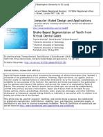 Snake-Based Segmentation of Teeth From Virtual Dental Casts