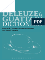 [Bloomsbury Philosophy Dictionaries] Eugene B. Young, Gary Genosko, Janell Watson - The Deleuze and Guattari Dictionary (2013, Bloomsbury.pdf