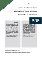 Texto 20. Las Reformas Educativas y El Papel Del Docente.