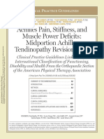 Achilles Pain, Stiffness, And Muscle Power Deficits- Midportion Achilles Tendinopathy Revision 2018