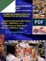 Clase 10 - 11 Usp 38 Cap 61 - 61 Recuento Microbiano m.o. Especificos