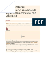 Pymes Peruanas Desarrollarán Proyectos de Cooperación Comercial Con Alemania