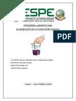 INGENIERÍA AGROPECUARIA quimica