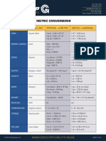 Metric Conversions Groschopp Resources