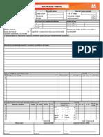 Formato Reporte de Trabajo - Flota