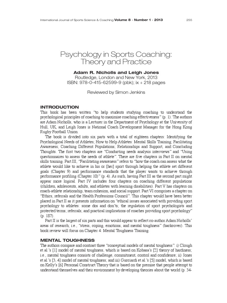 Get PDF Psychology in Sports Coaching: Theory and Practice