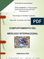 Presentación Comportamiento Del Mercado Internacional