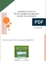Stephen Covey's - seminar part1
