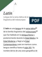 Latín - Wikipedia, La Enciclopedia Libre