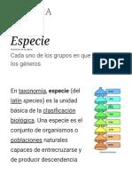 Especie - Wikipedia, La Enciclopedia Libre