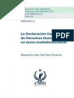 La Declaración Universal de Derechos Humanos Un Texto Multidimensional (Fascículo 2 ) – Mauricio Iván Del Toro Huerta