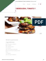 Milhojas de Berenjena, Tomate y Mozzarella – Ahorro de Verdad