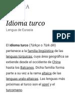 Idioma Turco - Wikipedia, La Enciclopedia Libre