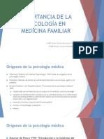 Importancia de Psicología Médica en Medician Familiar