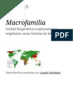 Macrofamilia - Wikipedia, La Enciclopedia Libre