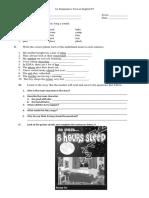 1st Summative Test in English IV.1
