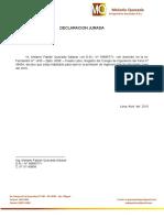 Declaracion Jurada Melanio Quezada