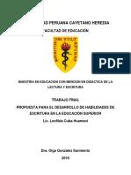 Habilidades Comunicativas en El Nivel Superior-cuba Huamani