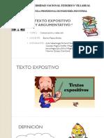 Texto Expositivo y Argumentativo Expo