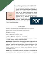 Cuestionario de Madurez Neuropsicológica Infantil (CUMANIN)