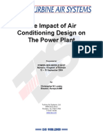 The Impact of Air Conditioning Design on the Power Plant