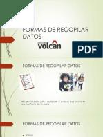 Formas de Recopilar Datos Ygrafica Interpretacion Efectos