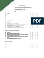 Questionnaire Ent