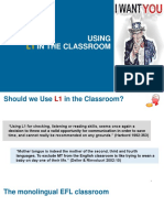 Using L1 in the Classroom