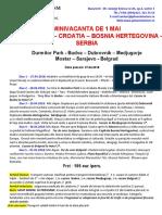 Minivacanta de 1 Mai in Muntenegru - Croatia - Serbia 27.04.2018
