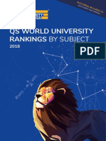 2018 QS World University Ranking by Subject
