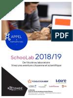 SchooLab2018 19 Appel a Participation