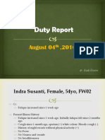 Duty Report, Indra Susanti