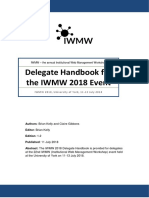 IWMW 2018 Delegate Handbook