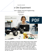 The Olin Experiment
