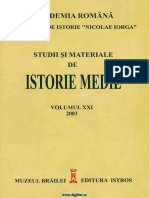 Studii Si Materiale de Istorie Medie 21 (2003)