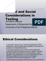 Ethical and Social Considerations in Testing