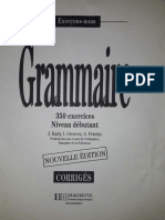Les 350 Exercices Grammaire Débutant Corrigés