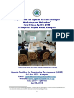 Final Report for UCSD Talanoa Dialogue Workshop & Writeshop Held April 6, 2018 in Kampala (Uganda)