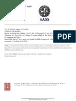 Scandinavian Studies Volume 87 Issue 1 2015 [Doi 10.5406%2Fscanstud.87.1.0062] Lodén, -- The Arthurian Legacy in Sweden
