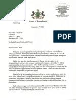 State Sen. Schwank letter to Gov. Wolf re