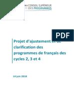 Projet Ajustement Programmes Francais C 2 3-4-969897